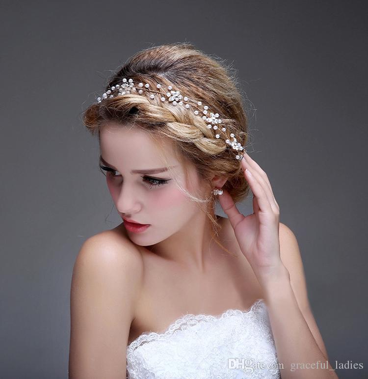 cheap-white-beads-hair-accessories-for-wedding