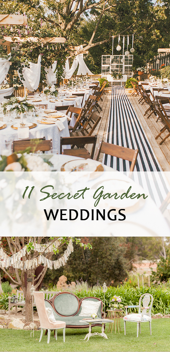 Garden weddings, wedding hacks, secret garden, wedding themes, popular pin, wedding hacks, wedding decor ideas, decor, wedding decor, wedding DIY projects.