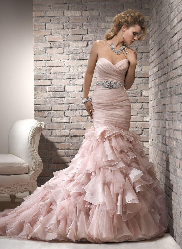 Blush Wedding Dresses, Wedding dresses, wedding dress inspiration, wedding dress hacks, wedding color schemes, wedding fashion, bridal fashion, popular pin, wedding hacks, wedding tips, dream weddings.