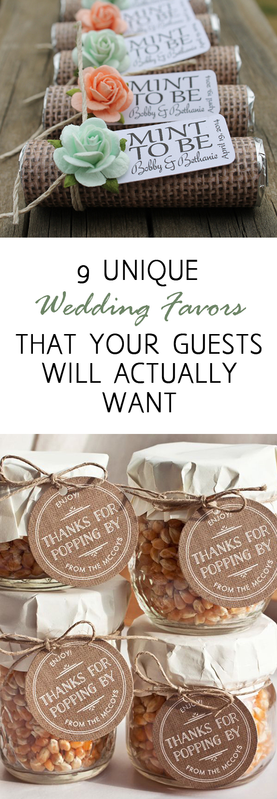 Wedding favors, wedding favor ideas, DIY wedding favors, popular pin, DIY wedding, wedding tips, wedding hacks, unique wedding favor ideas, inexpensive wedding favors, wedding favors, clever wedding favors, wedding reception ideas. #wedding #dreamwedding #diywedding #weddingreception