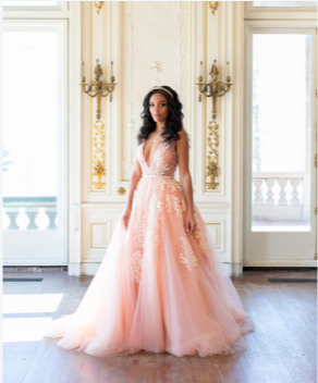 The Trend To Think Pink: These days, brides have so much freedom when it comes to the color of their wedding gown. Blush pink wedding dresses are the hottest trend so be open to other colors when trying on your wedding gowns!
