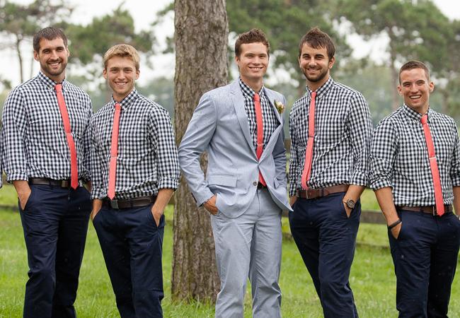 gingham-groomsmen