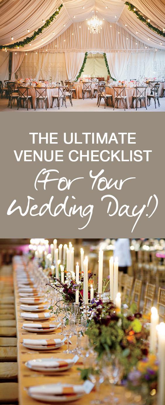 Venue Checklist | Wedding Day Checklist | Wedding Day Venue Checklist | Wedding Day Planning | Wedding Checklist | Wedding Venue | Venue