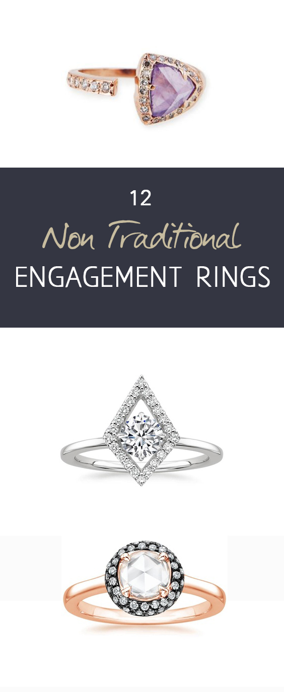 Engagement Rings, Unique Engagement Rings, Non Traditional Engagement Rings, Pretty Wedding Rings, Pretty Engagement RIngs, Popular Pin