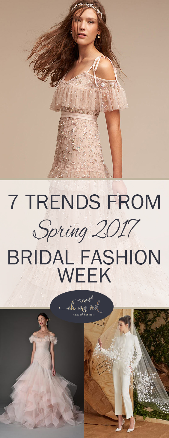 Bridal Fashion Week, Fashion Week, 2017 Spring Fashion Week, Bridal Trends, 2017 Bridal Trends, Wedding Dress Trends, Spring Wedding Dress Trends