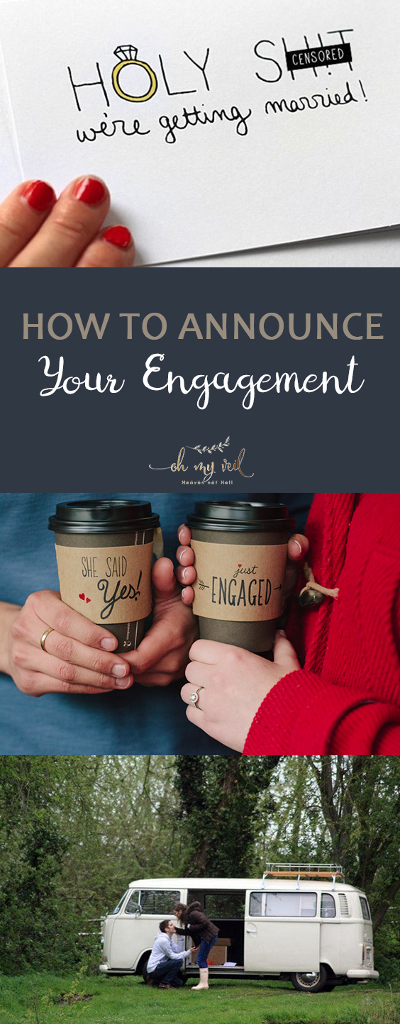 How to Announce Your Engagement| Engagement Announcements, Engagement Announcement Ideas, How to Announce Your Engagement, Engagement Planning Tips and Tricks, Wedding Announcement, How to Announce Your Wedding, Popular Pin