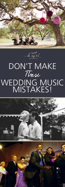 Don't Make These Wedding Music Mistakes! Wedding Music, Wedding Music Mistakes, Avoid Making These Music Mistakes, Wedding Music, Wedding Music Ideas, Popular Pin