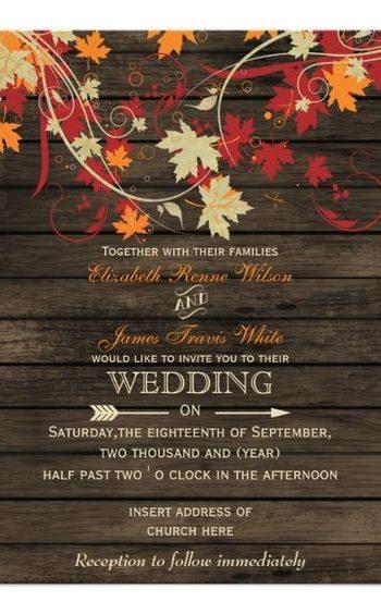 12 Chic Invites for Autumn Weddings  Wedding Invitations, Autumn Wedding, Autumn Wedding Invitations, Fall Wedding, Fall Wedding Invitations, Fall Wedding Planning, Wedding Planning, DIY Wedding Invitations. #WeddingInvitations #FallWedding #DIYWedding