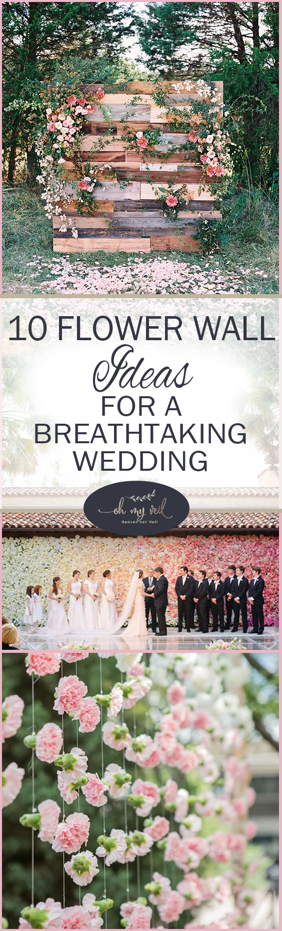 10 Flower Wall Ideas for a Breathtaking Wedding| Flowers for Weddings, Flower Decor, Flower Wall DIY, Wedding Flower Wall, Wedding, DIY Weddings #DIYWedding #Flowers #Wedding #DreamWedding