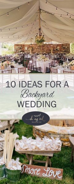 12 Great Ideas For A Modest Backyard: 10 Ideas For A Backyard Wedding