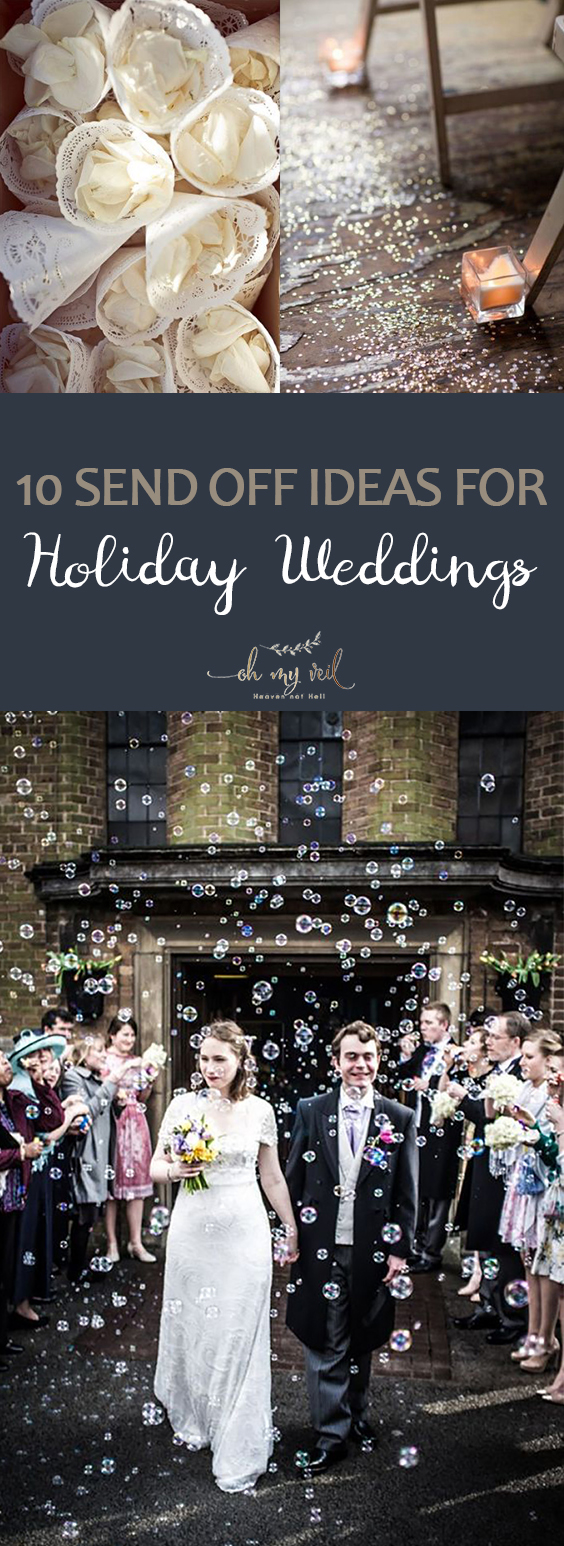 10 Send Off Ideas for Holiday Weddings | Holiday Wedding, Holiday Wedding Ideas, Send off Ideas, Send off Wedding Ideas, Holiday Wedding Ideas, Wedding 101, Wedding Hacks