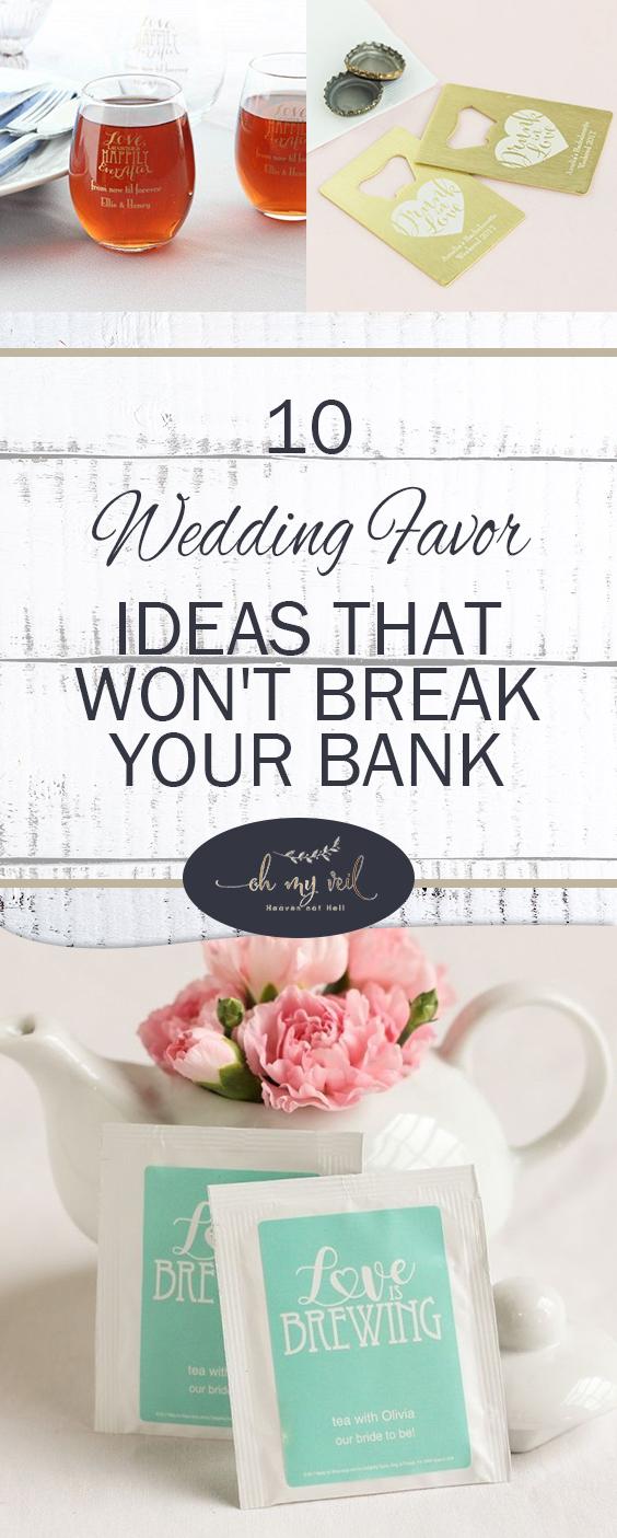 10 Wedding Favor Ideas That Won't Break Your Bank | Wedding Favors, Wedding Favor Tips and Tricks, DIY Wedding Favors, Inexpensive Weddings, Inexpensive Wedding Favors, Wedding Party Favors