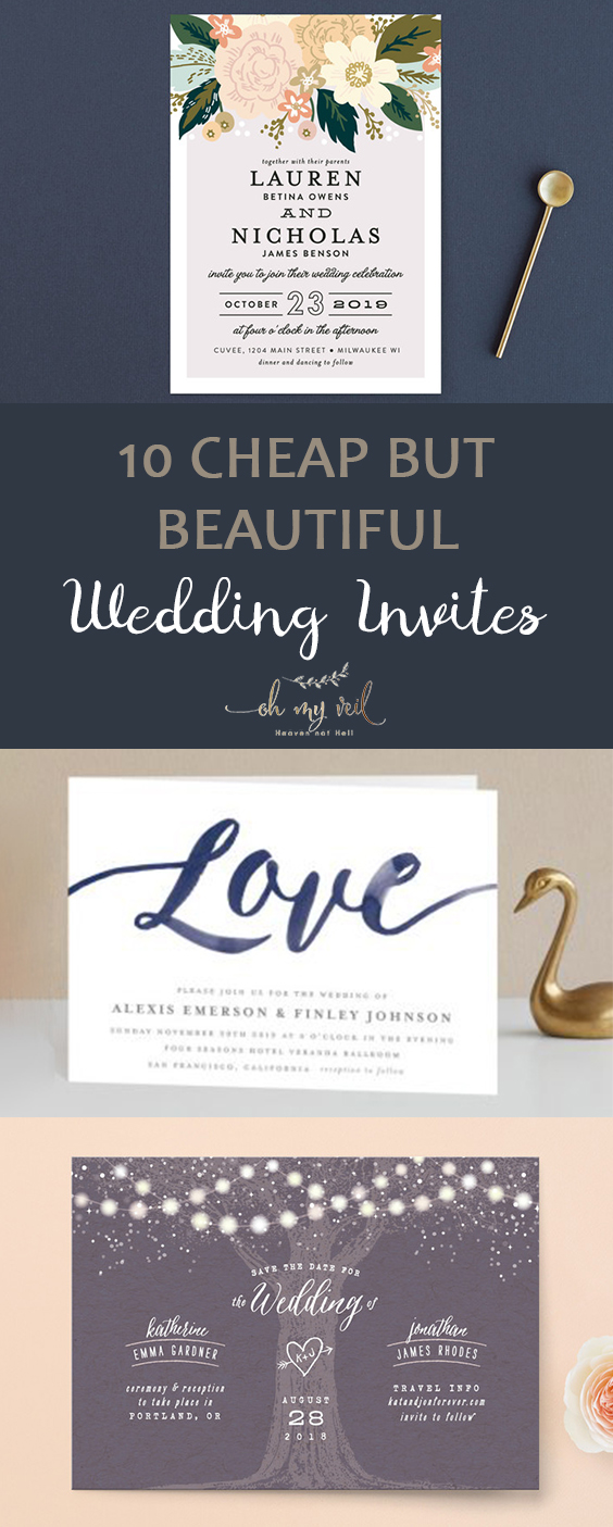 10 Cheap but Beautiful Wedding Invites | Wedding Invites, Inexpensive Wedding, Inexpensive Wedding Invites, DIY Wedding, Wedding Stuff, Cheap Wedding Stuff, Cheap Wedding Invites