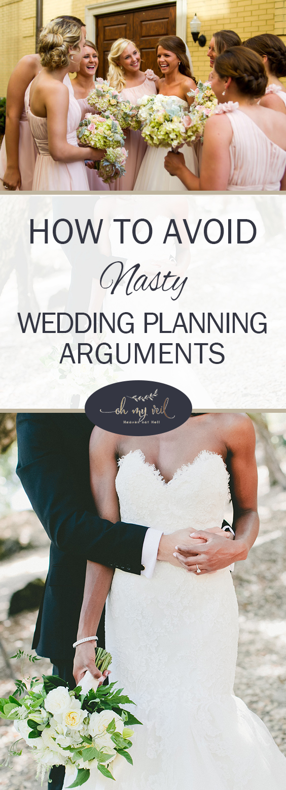 Avoid wedding planning arguments with these planning tips and tricks.| Wedding Planning, Wedding Planning Tips, Wedding Planning 101, Weddings, DIY Wedding, Wedding Planning Hacks, Wedding DIY, Wedding Planning DIYs