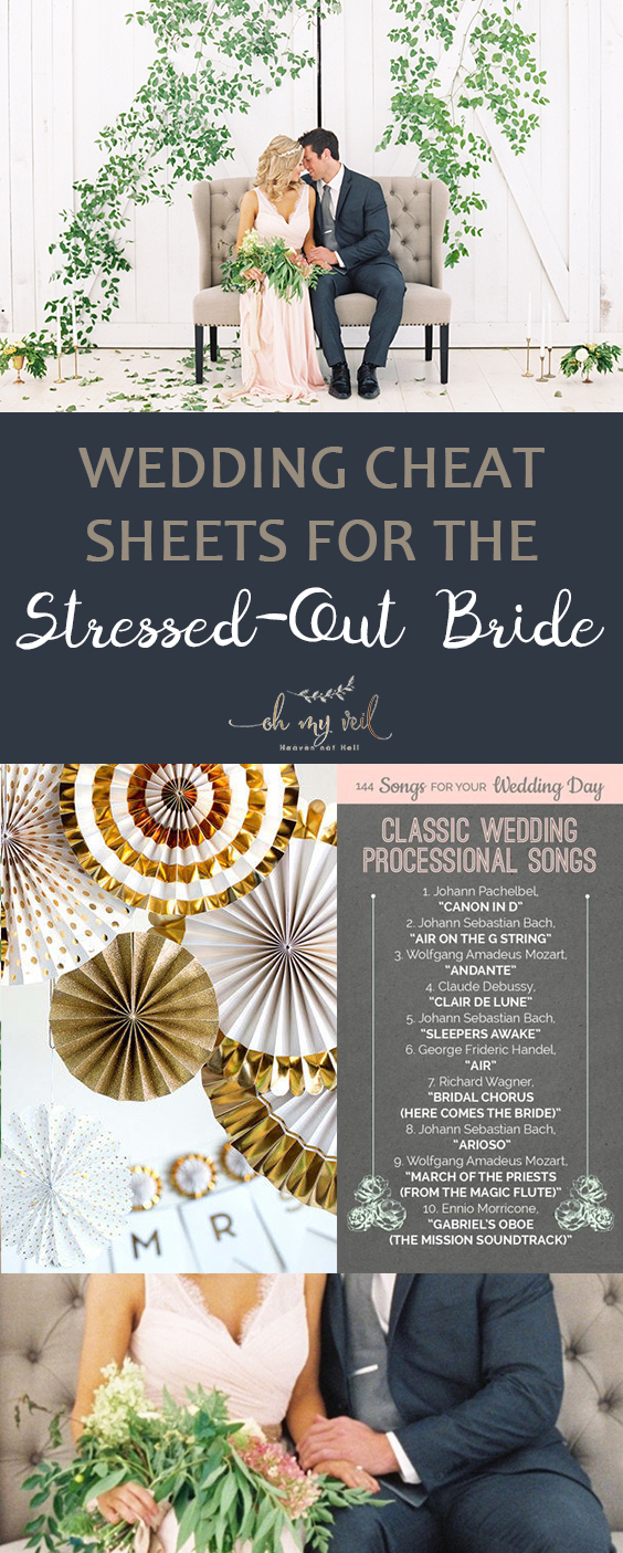 Wedding Cheat Sheets for the Stressed-Out Bride| Wedding Cheat Sheets, Stressed Out Wedding Cheat Sheets, DIY Wedding, Wedding Planning, Wedding Planning Tips and Tricks, Popular Pin #Wedding #WeddingCheatSheets