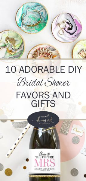 10 Adorable DIY Bridal Shower Favors and Gifts, Bridal Shower Ideas, Bridal Shower Favors, Bridal Shower Gifts, Wedding Planning, Wedding Ideas, Bridal Shower Ideas