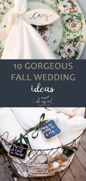 10 Gorgeous Fall Wedding Ideas | Fall Wedding, Fall Wedding Ideas, Fall Wedding Centerpieces, Fall Wedding Colors, Fall Wedding Flowers, DIY Wedding, Wedding Ideas, Easy Wedding Ideas