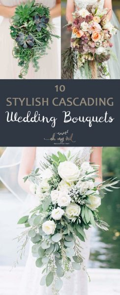 10 Stylish Cascading Wedding Bouquets | Wedding Photo Booth, Wedding Photo Booth Ideas, Wedding Photos, Wedding Photography Ideas,  Wedding Photos