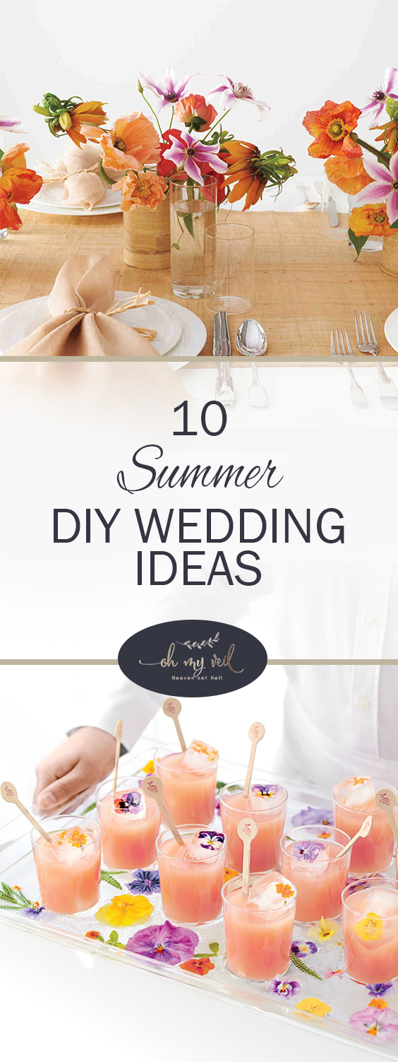 10 Summer DIY Wedding Ideas | Summer Wedding Ideas, Summer Wedding, DIY Wedding Ideas, DIY Wedding, Summer Wedding Colors , Weddings