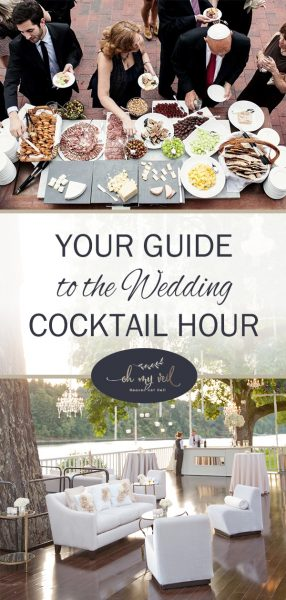 Your Guide to the Wedding Cocktail Hour, Wedding Ideas, Wedding cocktails, Wedding Tips, Wedding Planning, Cocktail Hour Wedding, Cocktail Hour, Cocktail Hour Wedding Ideas