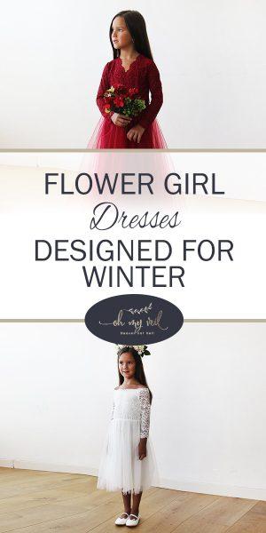 Flower Girl Dresses | Flower Girl Dress Ideas | Winter Wedding | Winter Wedding Dresses | Winter Wedding Planning | Winter Wedding Tips and Tricks