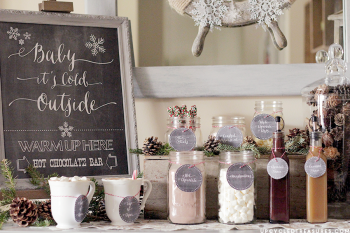 Winter Wedding Hot Cocoa Bar | Hot Cocoa Bar | Hot Cocoa Bar Ideas | Winter Wedding Hot Cocoa Bar Ideas | Winter Wedding Planning | Winter Wedding Ideas