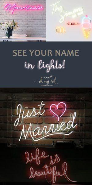 Neon Wedding Signs | Light Up Wedding Signs | Wedding Signs | Wedding Decor | Wedding Decor Ideas | Wedding Sign Ideas | Light Up Wedding Sign Ideas