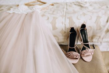 The Trend To Think Pink: These days, brides have so much freedom when it comes to the color of their wedding gown. Blush pink wedding dresses are the hottest trend so be open to other colors when trying on your wedding gowns! Don't forget your accessories!
