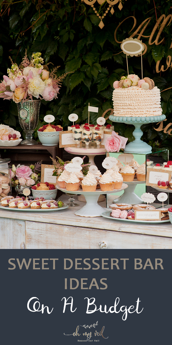 dessert bar | dessert | reception | reception ideas | weddings | wedding ideas | wedding food | wedding desserts