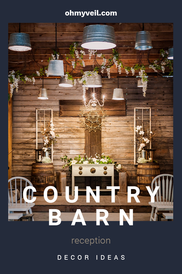 I love country weddings because they are so chill. Such a down home feel. If your reception will be in a barn, you don't want to miss these decor ideas to make your day exactly what you want. We have ideas for lighting, centerpieces, dessert stands, and how to incorporate things like barrels and pallets. Turn up the music and kick up your heels. Your guests will feel welcome and talk about the country barn reception decor for years to come.