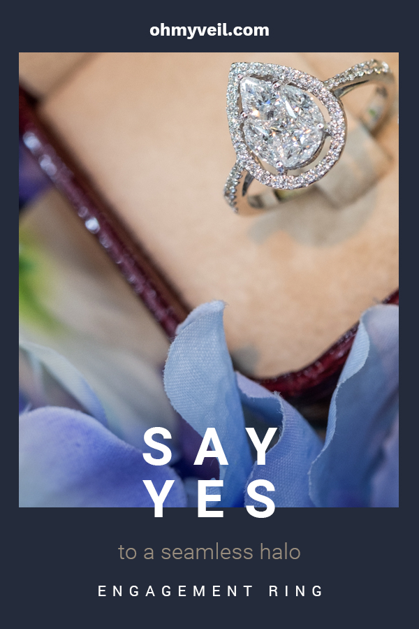 If you're looking for the perfect engagement ring, then say yes to a seamless halo engagement ring