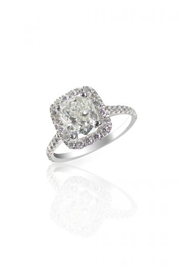 A seamless halo engagement ring is one of the most popular engagement ring designs