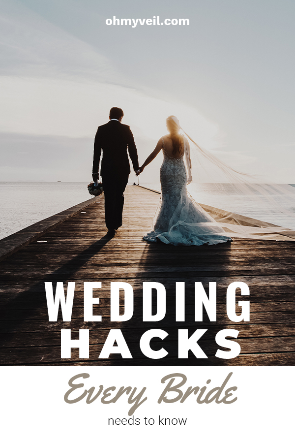 Weddings are so exciting, but they can also be very stressful. The stress is usually associated with money and making sure everything is just perfect. That's why Oh My Veil wants to help you with these wedding hacks every bride needs to know that reduce stress, help you stay on budget, make your decor extra special and most of all help you enjoy your big day. These tips are easy and make a big difference. Read on for more ideas. #weddinghacks #weddingtips #DIYwedding