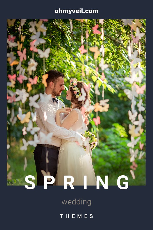 Spring is a wonderful time of year for a wedding. Colors are fresh and light, airy and romantic. We want to share with you some wonderful Spring wedding themes by discussing color schemes, rustic ideas, and more to make your wedding a huge success. For more blossoming Spring wedding theme ideas, keep on reading. We wish you all the best in the years to come. #springweddingthemes #springweddingideas #springweddings