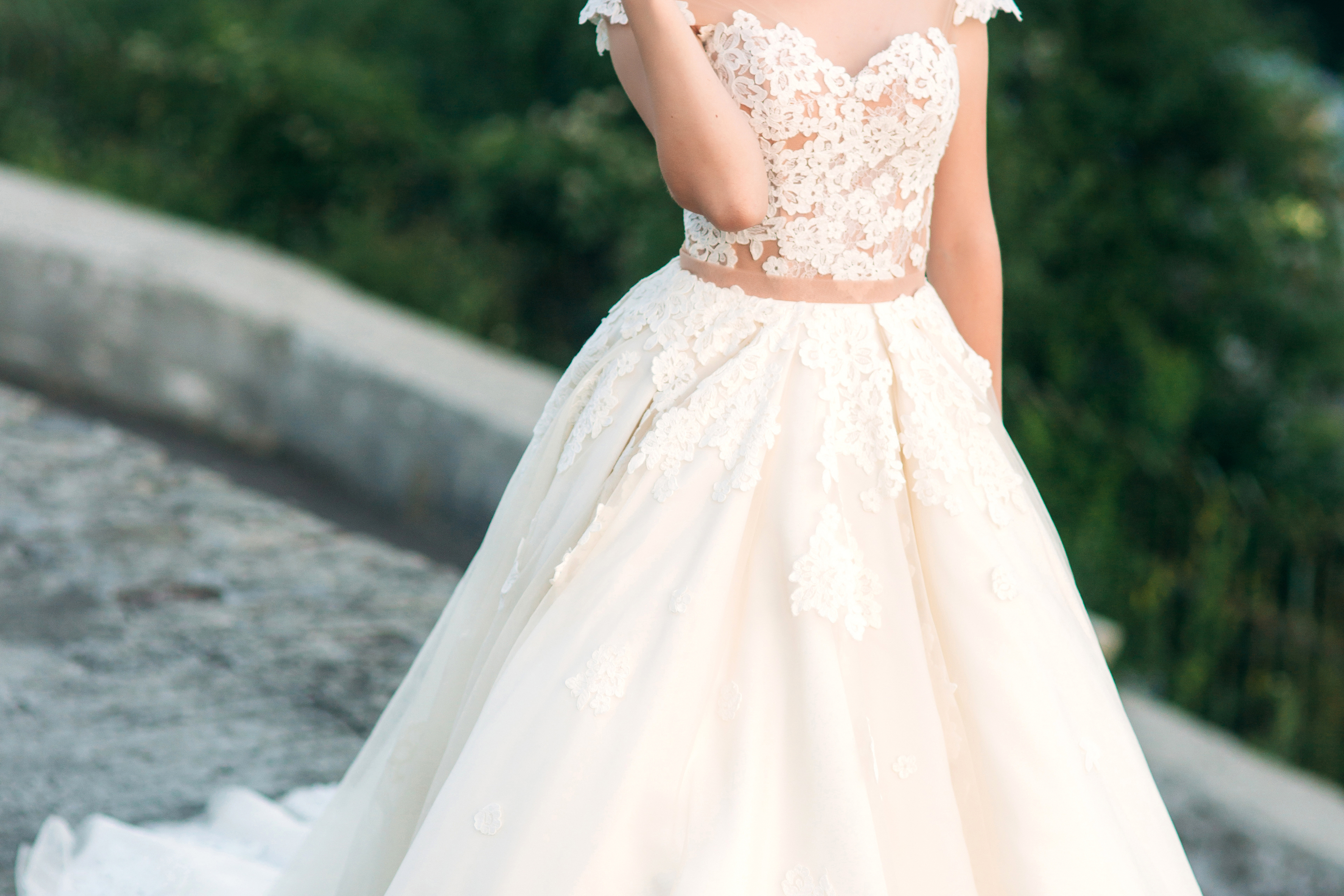 If you're planning a Spring wedding, make sure you look at Spring wedding dresses! A ball gown is always a good idea and will absolutely gorgeous against the Springtime flowers.