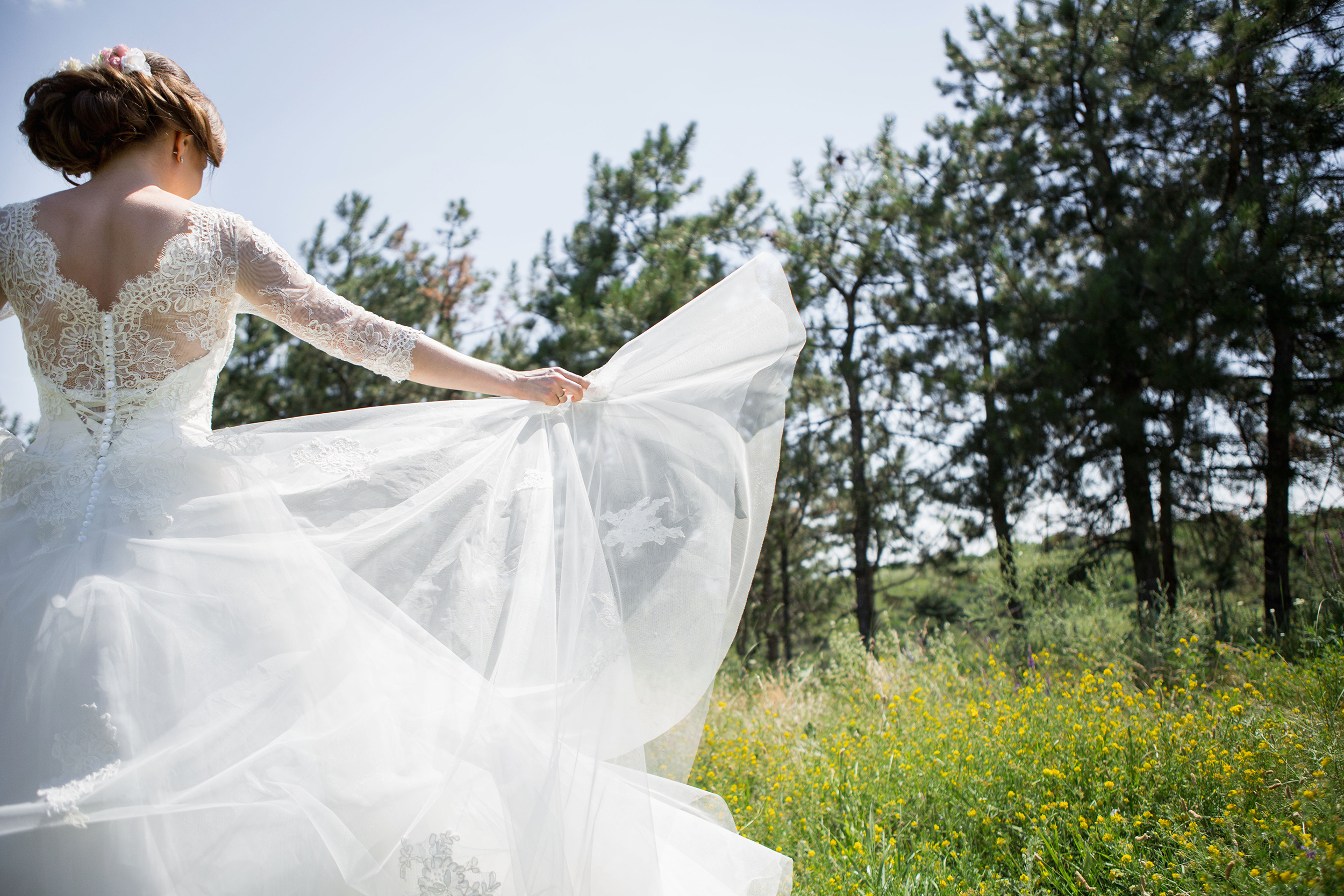 If you're planning a Spring wedding, make sure you look at Spring wedding dresses! Lace is a timeless look and will look gorgeous in the Spring time.