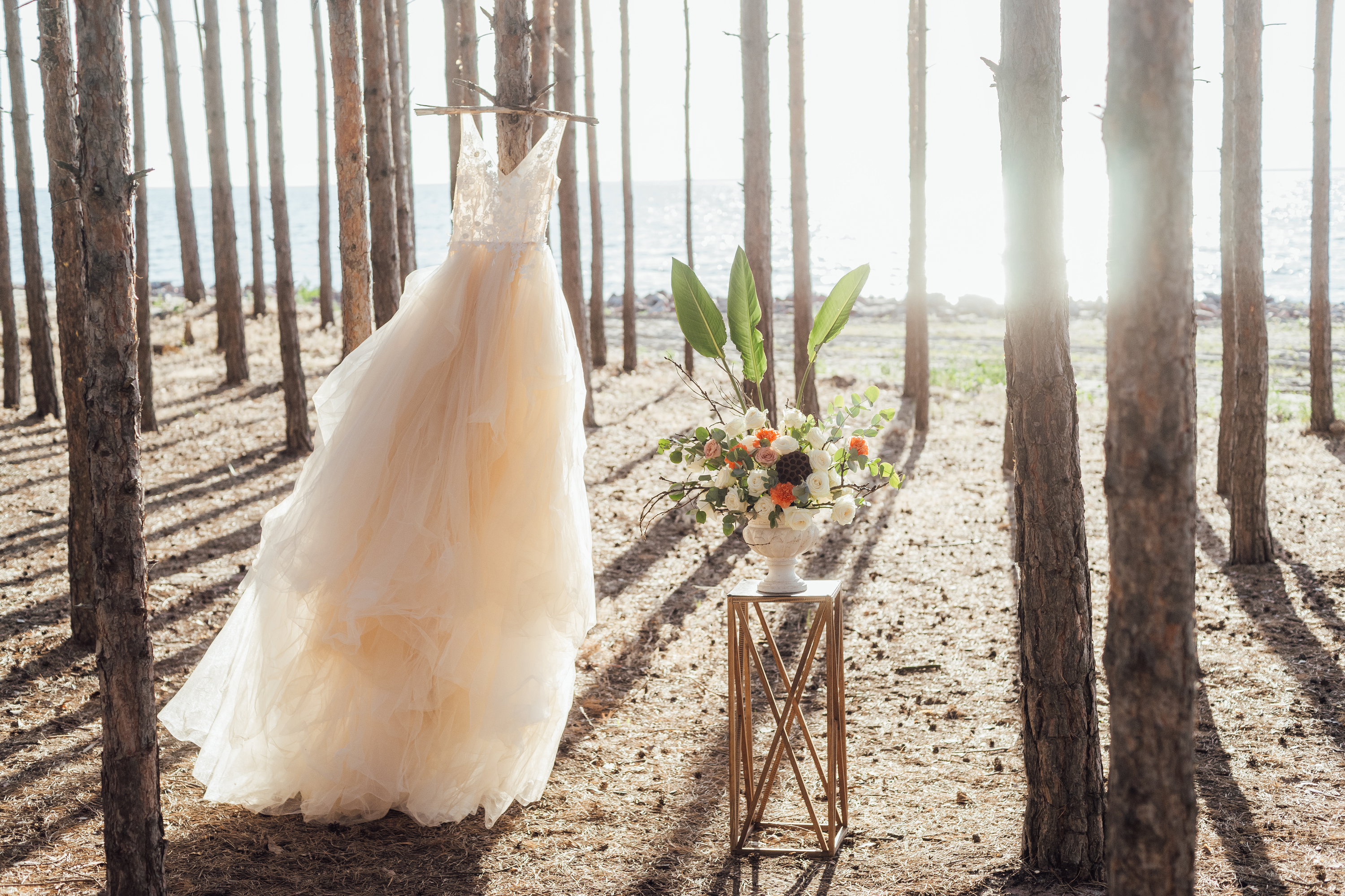 If you're planning a Spring wedding, make sure you look at Spring wedding dresses! Airy and flowy dresses always complement Spring time with their effortlessness.