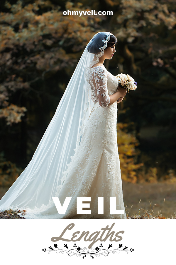 Ever wondered what lengths veils come in? You might be surprised to learn about all the specific lengths, their names and the history behind them. We've compiled a guide to these things so you can educate yourself about the looks and make a decision which one works the best for you and your dress. Maybe you will choose the fingertip, or waltz length or something else. It's interesting to learn about them. Keep reading for more information. #veillengths #allaboutweddingveils #weddingveilguide