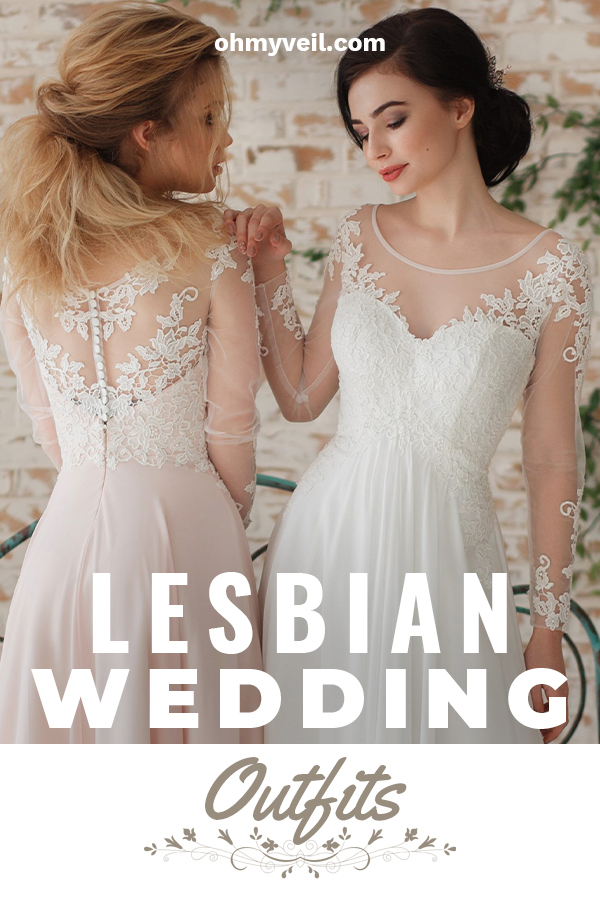 Same sex wedding are something that is new. With that comes the issue of wedding attire. What do lesbian couples wear? Today's post can help! Wedding fashion for lesbians offers suit ideas, casual ideas, and ideas for dresses as well. Read on to learn all about what you could wear on your big day. It's all about being yourself and finding something that makes you feel good. #lesbianweddingoutfits #weddingattireideasforlesbians #weddingfashion