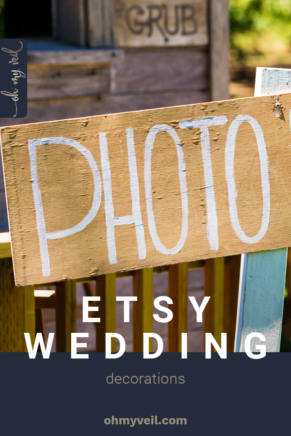 Etsy is one of my favorite places to shop for wedding decorations. Full of talented artisans and creative crafters, you can find some of the most beautiful, and totally customizeable, wedding decor ideas here. Check them out today! #ohmyveilblog #weddingdecorations #etsy