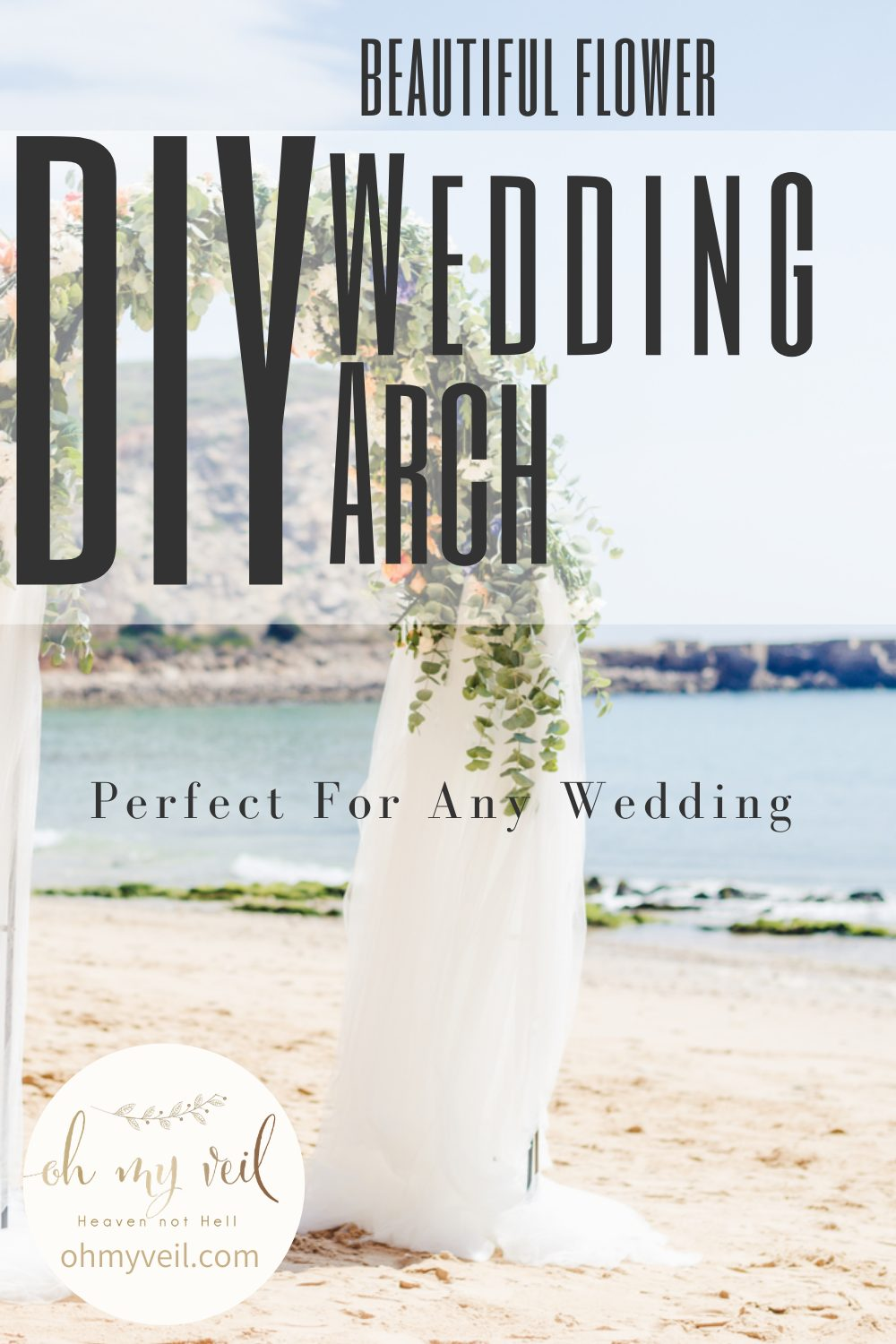 It can cost a fortune to make your own DIY wedding arch, but it doesn't have to! You can make your own instead. Use this guide to learn how to make your own DIY Wedding arch. #diy #wedding #ohmyveilblog