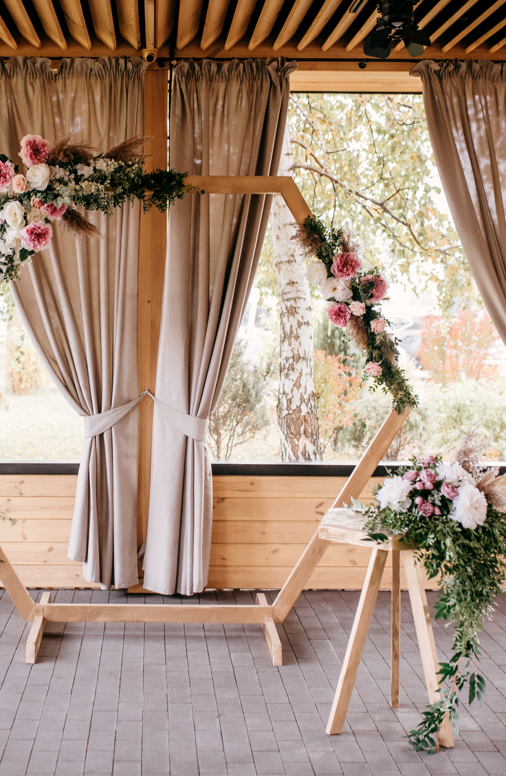 Whether you choose to do your ceremony under one, or if you just want one to take photos under, a DIY wedding arch is a must-have for any bride this year. We even have fun shapes like hexagons you can do!