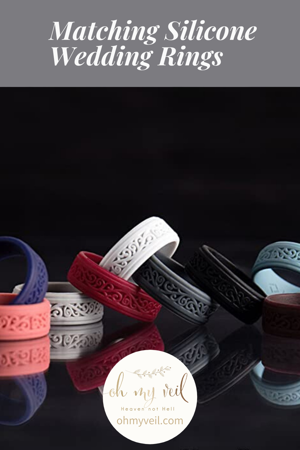 Silicone wedding rings are a growing trend in the NFL. They allow players to keep the symbol of marriage while playing a game that doesn't allow wearing traditional metal rings. Pro football players are not the only ones who can benefit from a silicone wedding ring. Find out if you can, too. (I'll bet you can!) #ohmyveilblog #alternativering #sportsweddingband