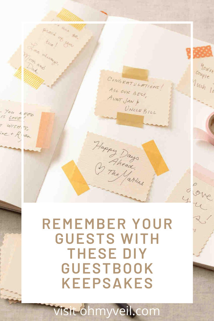 One way to remember your day and who was there to celebrate is with a DIY guestbook keepsake. Read this post for creative ideas that you can use later. Ideas for home decor and more. Keep reading to learn more. #weddingguestbook #weddingplanning #Weddingreceptionideas #ohmyveilblog