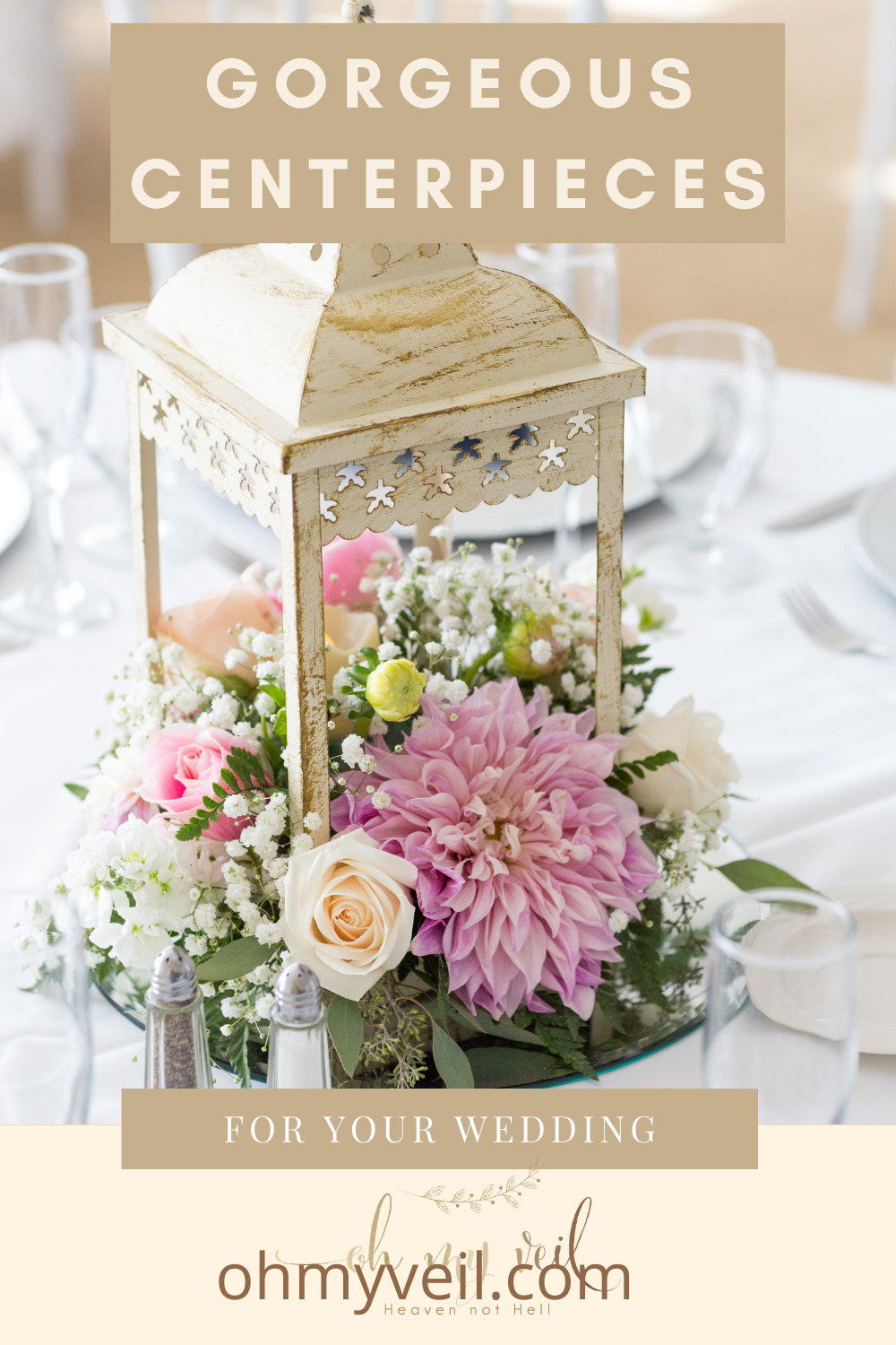 Ohmyveil.com has all the best original ideas for a perfect wedding day! Make sure you get every detail right for your big day. These incredible centerpieces are sure to tie your wedding decor together perfectly!