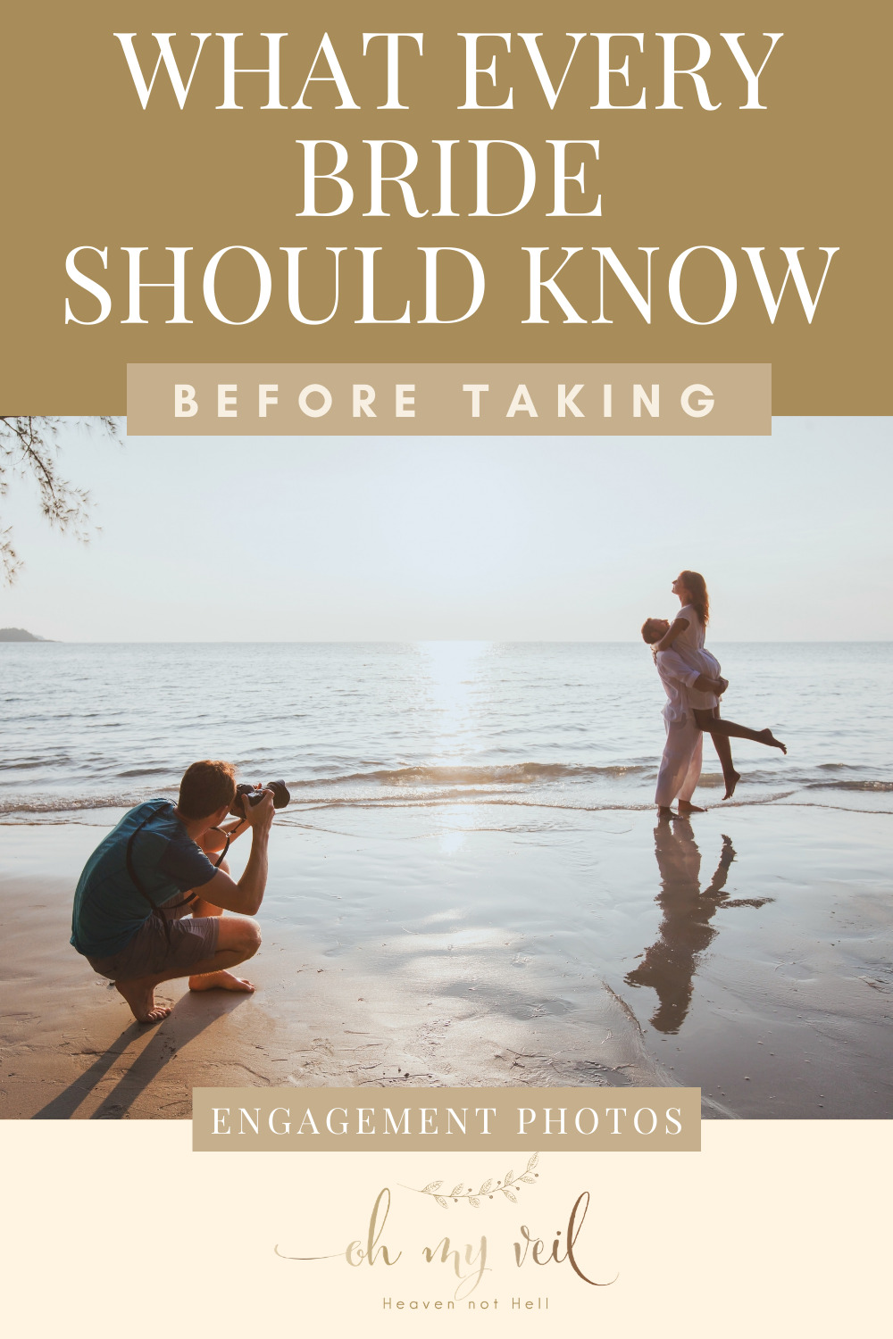 Ohmyveil.com is the absolute best resource for new brides. Make sure your big day is planned perfectly down to the last detail. If you're considering taking engagement photos, make sure you check out these things you MUST know beforehand.