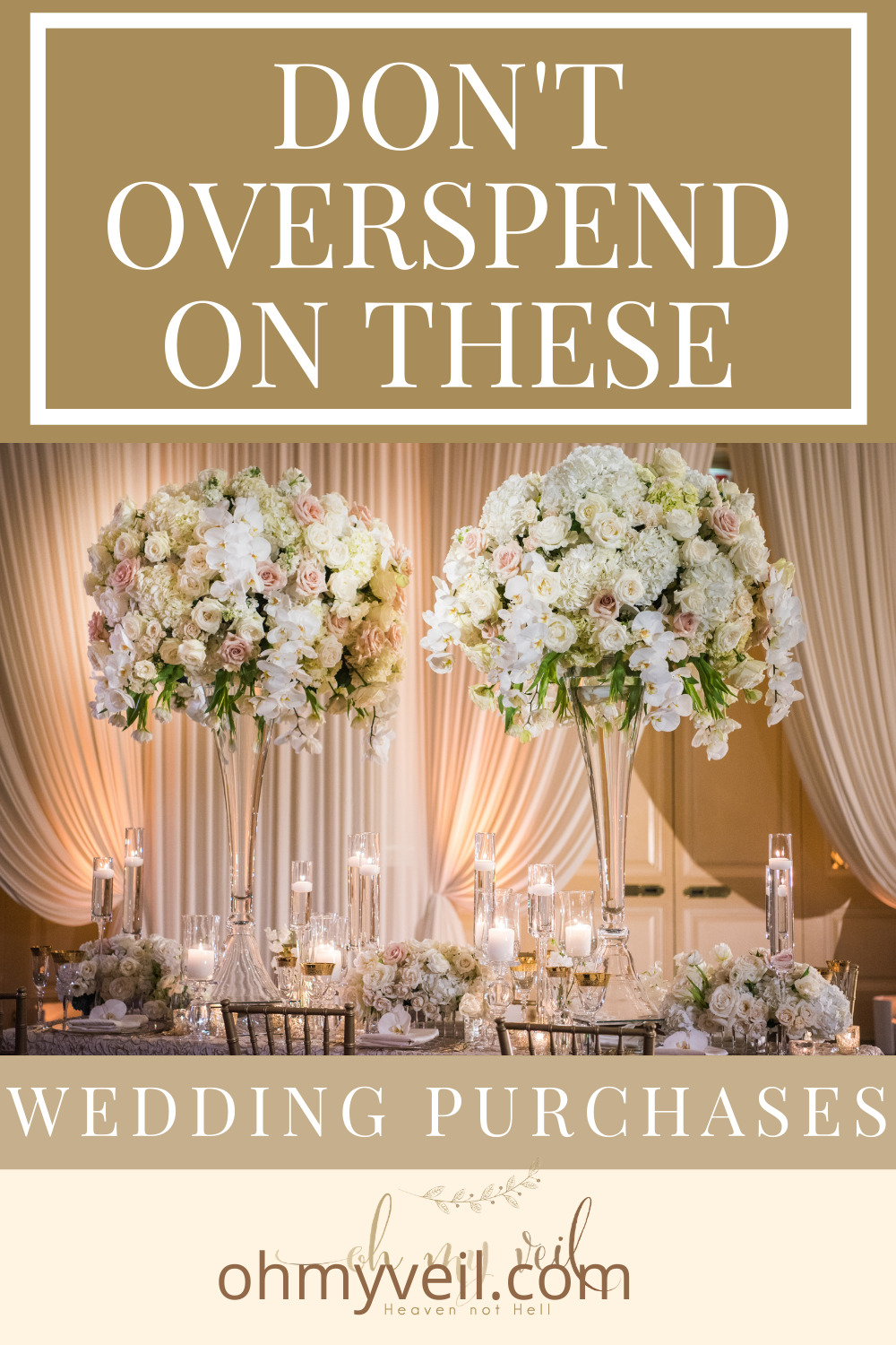 Ohmyveil.com is the best resource for every bride-to-be! Find out all the things you need to know while planning your wedding. Learn what parts of your wedding you're probably overspending on and find out how you can cut back in your budget!