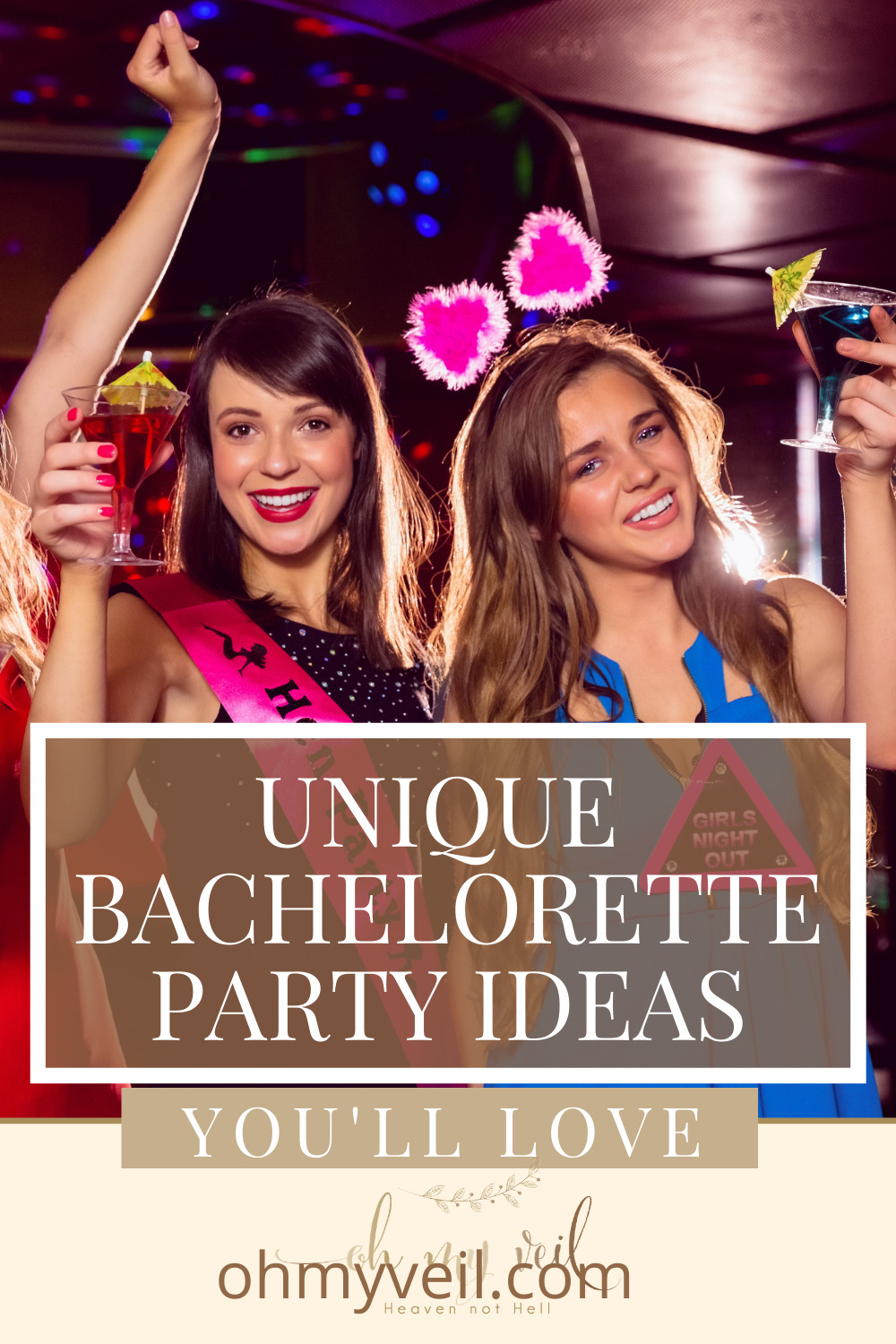 Ohmyveil.com is your new best friend when it comes to wedding planning and inspiration! Find inspiration for every detail of your big day! Get together with your closest friends and try out these fun ideas for your bachelorette party!