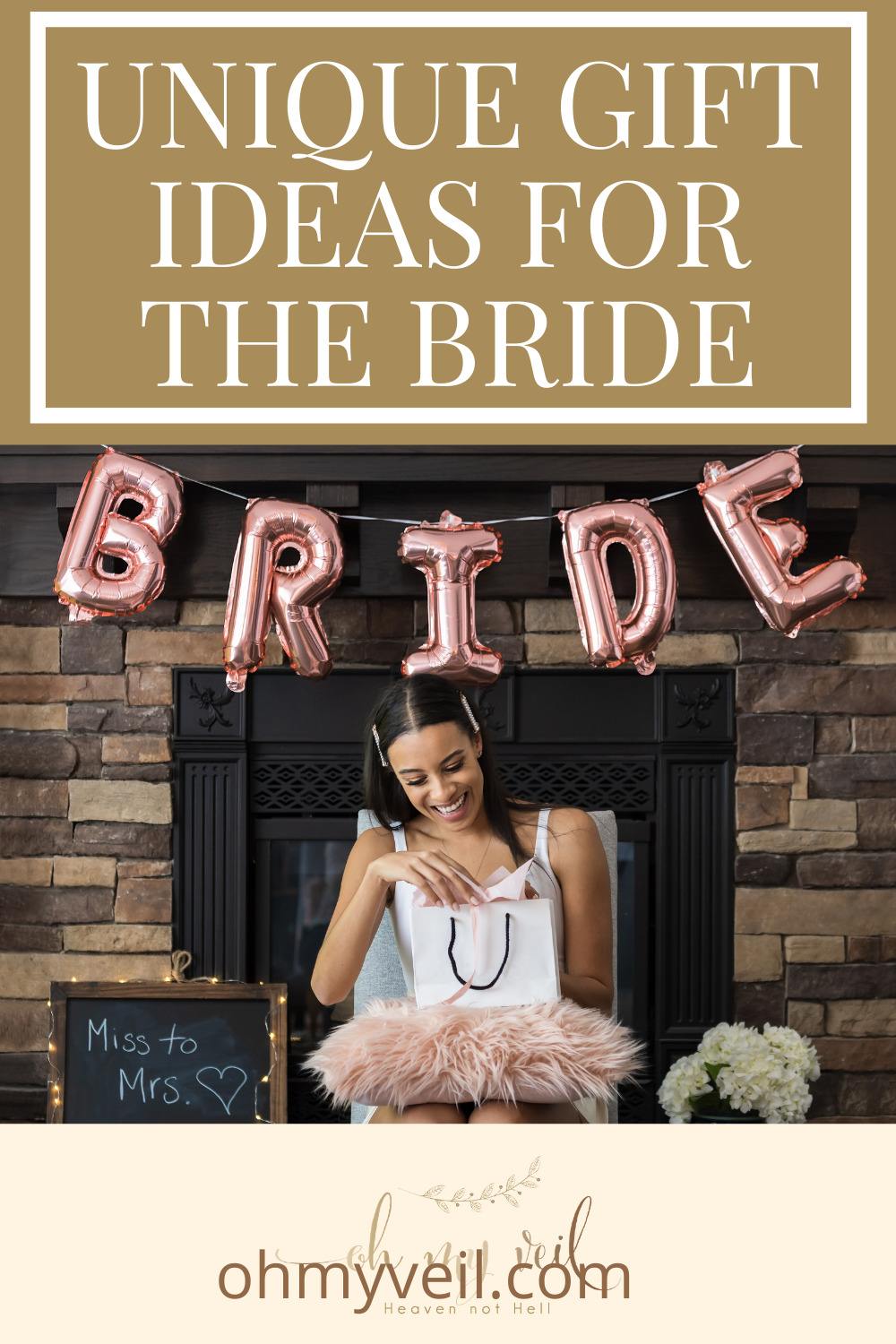 Ohmyveil.com has the best ideas for any soon-to-be-wed bride! Find totally original gift ideas she will absolutely love. Find out what you should buy her now!